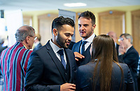 Picture By Allan McKenzie/SWpix.com - 06/04/18 - Cricket - Yorkshrie County Cricket Club Opening Season Lunch 2018 - Emerald Headingley Stadium, Leeds, England - Azeem Rafiq at the opening season lunch.