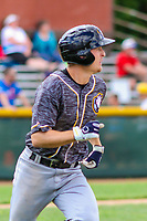 Quad Cities River Bandits second baseman Tyler Wolfe (10) during a Midwest League game against the Beloit Snappers on June 18, 2017 at Pohlman Field in Beloit, Wisconsin.  Quad Cities defeated Beloit 5-3. (Brad Krause/Krause Sports Photography)