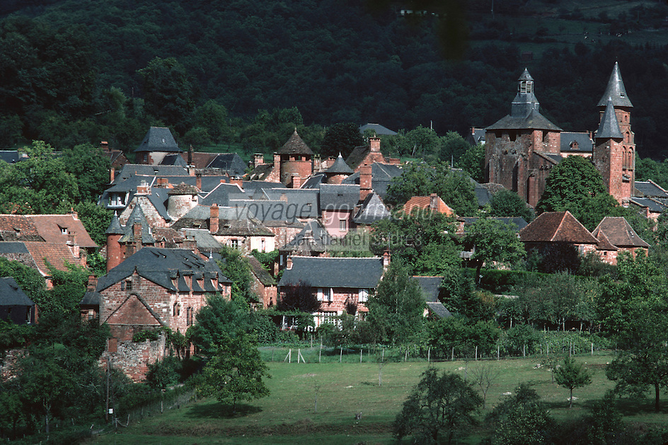 "Europe/France/Limousin/19/Corrèze/Collonges-la-Rouge : Le village classé ""Plus beaux villages de France"" en grés rouge"