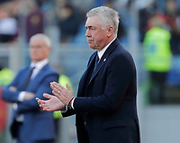 Carlo Ancelotti coach of Napoli   during the  italian serie a soccer match, AS Roma -  SSC Napoli       at  the Stadio Olimpico in Rome  Italy , March 31, 2019