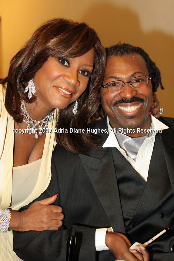 Patti Labelle and Teddy Pendergrass backstage at the 25TH Anniversary Celebration in Philadelphia, PA, Kimmel Center.