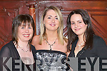 GLAMOUR: Enjoying the Listry Parish Social in the Killarney Avenue Hotel last Friday night were, l-r: Mary Darmody, Mairead Darmody and Valerie Scott..