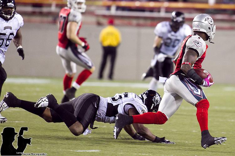Oct. 8, 2011. The Las Vegas Locomotives defeated the Omaha Nighthawks 30-10 at Sam Boyd Stadium