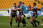 Niva Ta'auso about to be tackled by Daniel Goodwin. Air NZ Cup week 4 game between the Counties Manukau Steelers and Northland played at Mt Smart Stadium on the 19th of August 2006. Northland won 21 - 17.