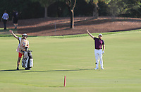 Terrell Hatton (ENG) on the 18th fairway during Round 4 of the DP World Tour Championship 2017, at Jumeirah Golf Estates, Dubai, United Arab Emirates. 19/11/2017<br /> Picture: Golffile | Thos Caffrey<br /> <br /> <br /> All photo usage must carry mandatory copyright credit     (© Golffile | Thos Caffrey)