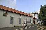 Israel, Southern Coastal Plain, historic building at Kikar HaMeyasdim, Rishon Letzion
