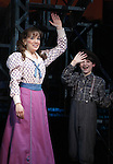 Kara Lindsay & Matthew J. Schechter.during the 'NEWSIES' Opening Night Curtain Call at the Nederlander Theatre in New York on 3/29/2012