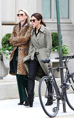 NEW YORK, NY-October 25:Cate Blanchett, Sandra Bullock shooting on location for  Ocean's Eight in New York.October 25, 2016. Credit:RW/MediaPunch