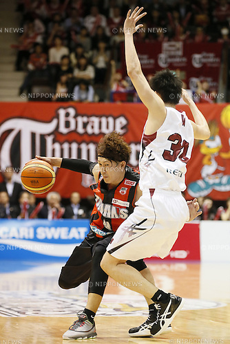 Takuya Kawamura (Trians),<br /> May 21, 2014 - Basketball : <br /> National Basketball League &quot;NBL&quot; FINALS 2013-2014 GAME 1 match between Wakayama Trians 61-69 Toshiba Brave Thunders <br /> at Kawasaki Todoroki Arena, Kanagawa, Japan. <br /> (Photo by AFLO SPORT)