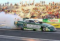May 31, 2013; Englishtown, NJ, USA: NHRA funny car driver Jeff Arend during qualifying for the Summer Nationals at Raceway Park. Mandatory Credit: Mark J. Rebilas-