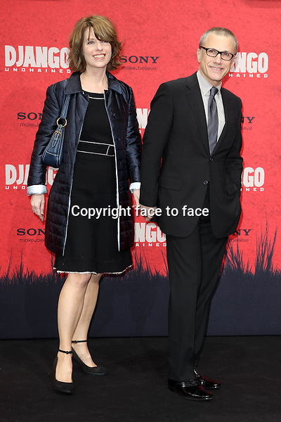 "Christoph Waltz and Judith Holste attending the ""Django Unchained"" Premiere at CineStar, Potsdamer Platz, Berlin, Germany, 08.01.2013...Credit: Semmer/face to face"