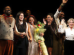 Phillip Boykin, Director Diane Paulus, Audra McDonald, Suzan-Lori Parks, Diedre L. Murray & Norm Lewis.during the Opening Night Curtain Call for 'The Gershwins' Porgy & Bess' at the Richard Rodgers Theatre in New York City. 1/12/2012