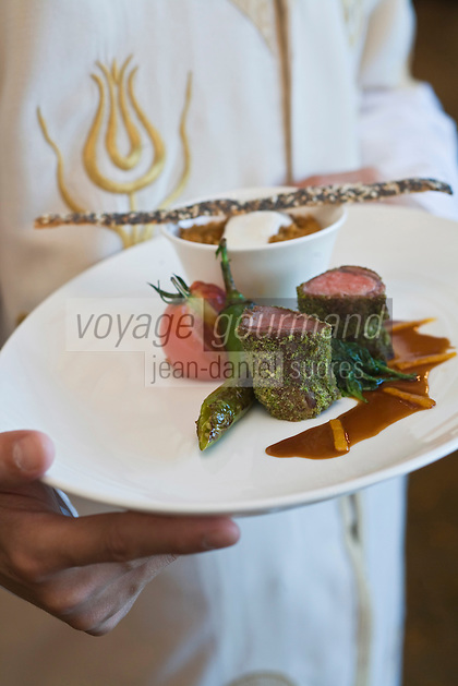 Europe/Turquie/Istanbul : Agneau en  croute de pistache, recette de  Marcel Nosari du restaurant  Centemani de l 'Hôtel Ritz Carlton
