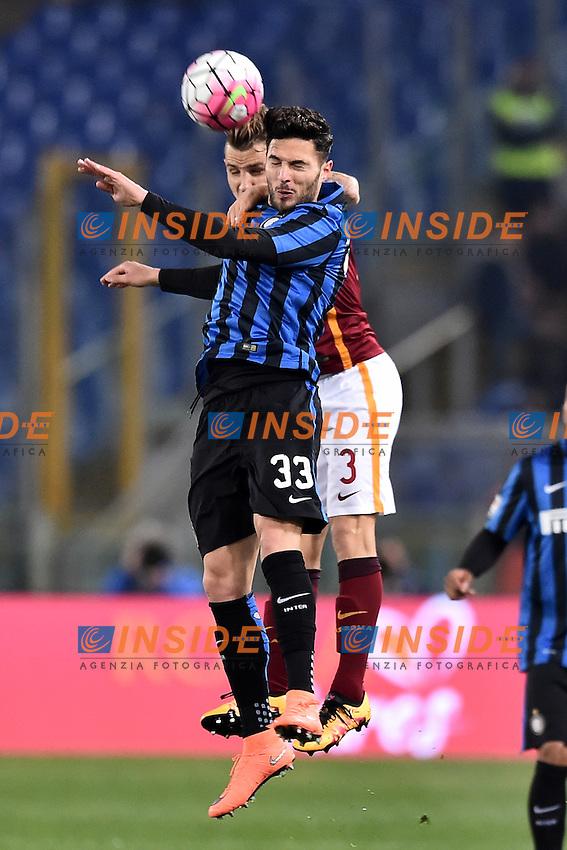 Lucas Digne Roma, Danilo D'Ambrosio Inter.<br /> Roma 19-03-2016  Stadio Olimpico<br /> Campionato Serie A,<br /> AS Roma -Inter<br /> Foto Antonietta Baldassarre / Insidefoto
