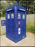 BNPS.co.uk (01202 558833)<br /> Pic: AmberleyPublishing/BNPS<br /> <br /> A blue, Glasgow, concrete police box, forming part of the National Telephone Kiosk collection at Avoncroft Museum of Historic Buidings.<br /> <br /> The iconic British phonebox has been given a ringing endorsement in a new book charting the expiring institution's fascinating history. <br /> <br /> Aptly titled 'The British Phonebox', the book primarily focuses on the ubiquitous design that's as emblematic to Britain as the black cab, double decker bus and Houses of Parliament. <br /> <br /> Equally interesting are the early chapters, which detail the phonebox's humble 19th century beginnings and the final ones, that bemoan their dwindling numbers <br /> <br /> The 96 page paperback, jointly authored by friends Nigel Linge and Andy Sutton, is published by Amberley and costs &pound;13.49.