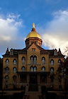 Main Building at sunrise, Fall 2010...Photo by Matt Cashore/University of Notre Dame