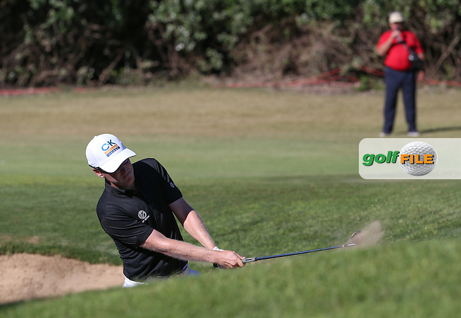 Matt Ford (ENG) finds the sand on the 16th during Round Three of the Africa Open 2015 at the East London Golf Club, East London, Eastern Cape, South Africa. Picture:  David Lloyd / www.golffile.ie. 07/03/2015