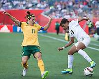 WINNIPEG, MANITOBA, CANADA - June 12, 2015: Australia vs Nigeria match at the Winnipeg Stadium.  Final score, Australia 2, Nigeria 0.