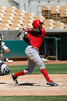 Justin Reed - Cincinnati Reds 2009 Instructional League. .Photo by:  Bill Mitchell/Four Seam Images..