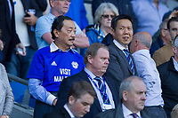 Cardiff City owner Vincent Tan (left) and chief executive Ken Choo during the Sky Bet Championship match between Cardiff City and Aston Villa at the Cardiff City Stadium, Cardiff, Wales on 12 August 2017. Photo by Mark  Hawkins / PRiME Media Images.