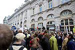 Thousands of protesters marched on the Bank of England in city of London during the G20 conference meeting  in London April 2009 , RBS  Bank windows were smashed on the ground floor. Police made around 90 arrests.