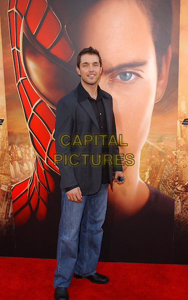 MATTHEW MARSDEN.Columbia Pictures' World Premiere of Spider-Man 2 held at The Mann Village Theatre in Westwood, .California, .June 22nd 2004..full length full-length smiling smart suit jacket and jeans spiderman.Copyright 2004 by Debbie VanStory.*UK sales only*.www.capitalpictures.com.sales@capitalpictures.com.©Capital Pictures