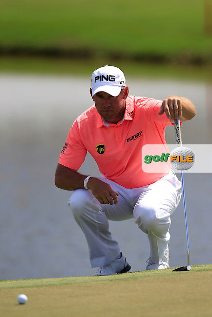 Lee Westwood (ENG) during the 2nd round at the WGC Cadillac Championship, Blue Monster, Trump National Doral, Doral, Florida, USA<br /> Picture: Fran Caffrey / Golffile