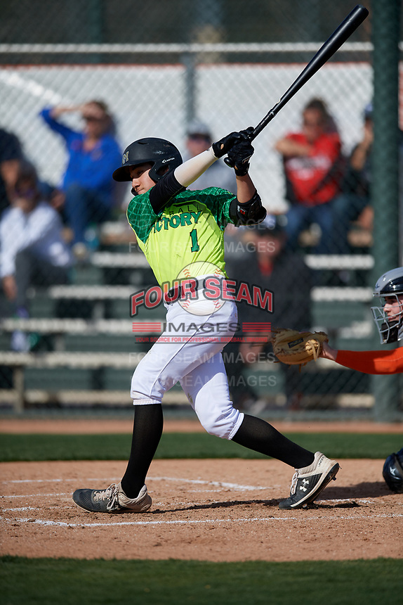 Dominic Giuffre during the Under Armour All-America Pre-Season Tournament, powered by Baseball Factory, on January 19, 2019 at Fitch Park in Mesa, Arizona.  Dominic Giuffre is a shortstop / second baseman from Rio Del Mar, California who attends Archbishop Mitty High School.  (Mike Janes/Four Seam Images)