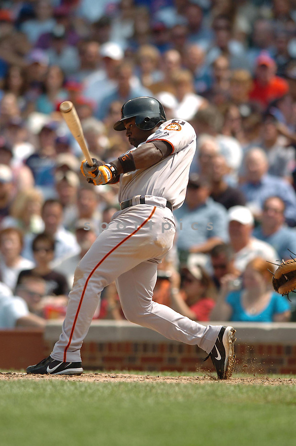 RAY DURHAM, of the San Francisco Giants, in action during the Giants game against the Chicago Cubs  in Chicago, IL  on July 19,  2007...Cubs win 9-8...DAVID DUROCHIK / SPORTPICS.
