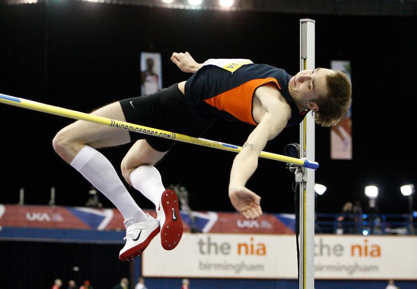 Photo: Richard Lane/Richard Lane Photography. Aviva Grand Prix. 20/02/2010. Poland's Sylwester Bednarek in the men's high jump.