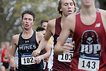 EVANSVILLE, IN - NOVEMBER 18: Nick Sevcik (102) of the Colorado Schools of Mines competes during the Division II Men's Cross Country Championship held at the Angel Mounds on November 18, 2017 in Evansville, Indiana. (Photo by Tim Broekema/NCAA Photos/NCAA Photos via Getty Images)