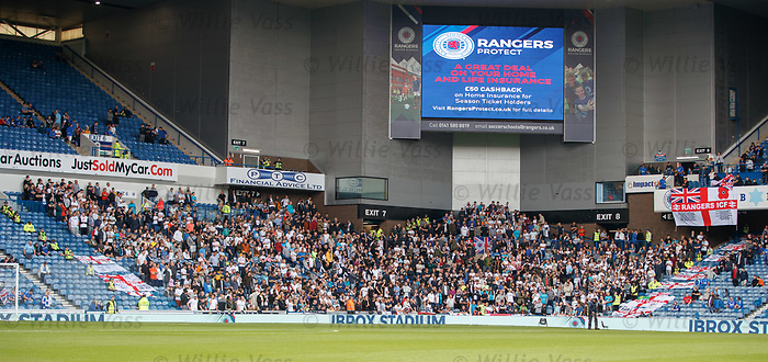 28.07.2019 Rangers v Derby County: Derby County fans
