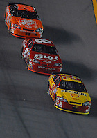 Feb 10, 2007; Daytona, FL, USA; Nascar Nextel Cup driver Kevin Harvick (29) leads Dale Earnhardt Jr (8) and Tony Stewart (20) during the Budweiser Shootout at Daytona International Speedway. Mandatory Credit: Mark J. Rebilas