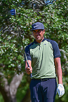 Tony Finau (USA) prepares to tee off on 2 during round 4 of the Valero Texas Open, AT&amp;T Oaks Course, TPC San Antonio, San Antonio, Texas, USA. 4/23/2017.<br /> Picture: Golffile | Ken Murray<br /> <br /> <br /> All photo usage must carry mandatory copyright credit (&copy; Golffile | Ken Murray)