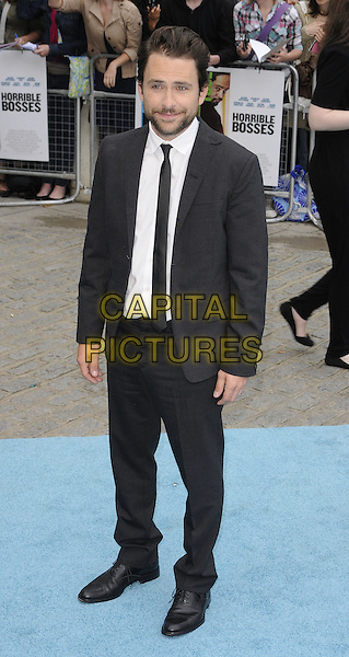 Charlie Day.Horrible Bosses UK Premiere, BFI, London, England..20th July 2011.full length black tie white shirt beard facial hair  .CAP/CAN.©Can Nguyen/Capital Pictures.