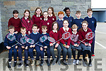 Castleisland Boys NS and Scoil Mhuire Gan Smal Castleisland teams thathave qualified for the All Ireland Badminton finals front row l-r: Con Mahony, Kuba Andrzejewski, Aleks Danowski, James Burke, Bella Harmon, Graimme Bradley, Eilís Enright, Ava McGovern. Back row: Nadine Bouger, Leah Horan, Sarah Keating, Nora Anne Hartnett, Mya Griffin, Jack Breen, Mint O'Connor, Ayrlón Burke and Larry Nolan