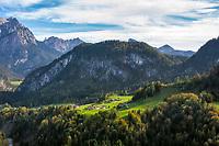 Oesterreich, Salzburger Land, Pinzgau, Unkenberg im Heutal: Reiter Alpe mit dem Gipfel Grosses Haeusel-Horn | Austria, Salzburger Land, Pinzgau, Unkenberg at Heu Valley: Reiter Alpe mountains with summit Great Haeusel-Horn