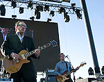 Elvis Costello and the Imposters performs at the Gorge Amphitheater on  Saturday, July 12, 2008 near George, Washington.  Jim Bryant Photo. ©2008. All Rights Reserved..