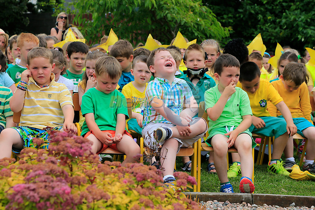 at the end of year awards and green flag raising in Callystown NS.<br /> Picture:  Fran Caffrey www.newsfile.ie
