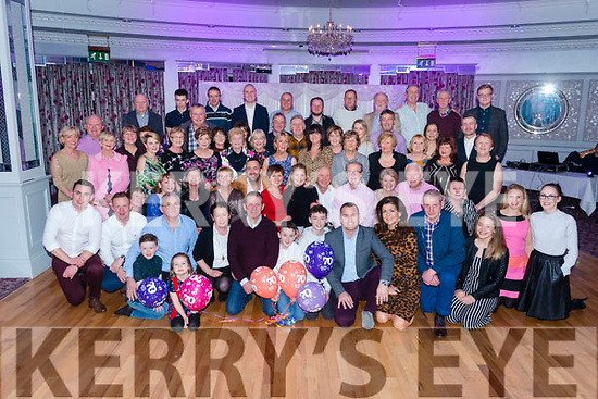 Joe Gaffey from Killarney celebrated his 70th birthday surrounded by friends and family in the Dromhall Hotel, Killarney last Saturday night.