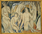 "Andre Derain (1880-1954)     ARTE SIGLO XX. FRANCIA. ANDRE DERAIN (1880-1954). French painter, illustrator and set designer. ""The Bathers"", 1908. National Gallery of Prague. Czech Republic. Credit: Album / Prisma"
