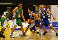 Luke Martin takes the ball up during the NBL Round 14 match between the Manawatu Jets  and Wellington Saints. Arena Manawatu, Palmerston North, New Zealand on Saturday 31 May 2008. Photo: Dave Lintott / lintottphoto.co.nz