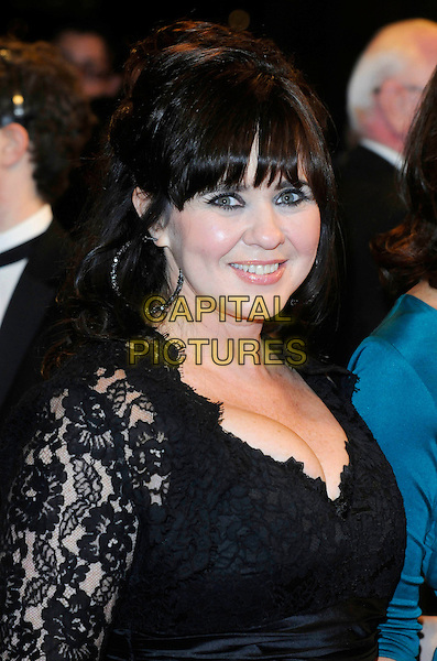 COLEEN NOLAN  (Loose Women).At the National Television Awards, held at O2 Arena, London, England, UK, January 20th 2010..arrivals TV NTA NTAs portrait headshot black lace fringe cleavage .CAP/FIN.©Steve Finn/Capital Pictures.