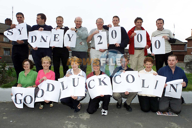 Wellwishers from the Lourdes Hospital sports club wishing Colin Lowth in the Olympics..Picture Paul Mohan Newsfile