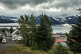 USA, Alaska, Seward, view from Hotel Seward to Resurrection Bay