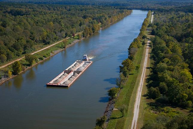 Barge on Tombigbee Waterway