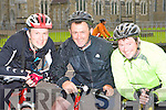 Kevin O'Sullivan Clonkeen, David O'Connor Milltown and Mike O'Connor Kilcummin on their bike at the Ring of Kerry cycle in Killarney Saturday morning.