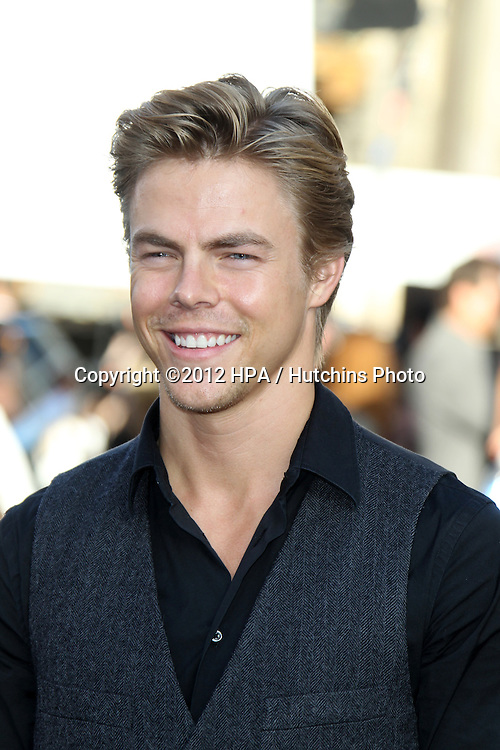 """LOS ANGELES - JUN 8:  Derek Hough arriving at """"Rock of Ages"""" World Premiere at Graumans Chinese Theater on June 8, 2012 in Los Angeles, CA"""