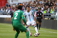 Seattle, WA - Tuesday June 14, 2016: Erik Lamela during a Copa America Centenario Group D match between Argentina (ARG) and Bolivia (BOL) at CenturyLink Field.