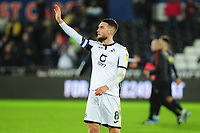 Matt Grimes of Swansea City applauds the fans at the final whistle during the Sky Bet Championship match between Swansea City and Barnsley at the Liberty Stadium in Swansea, Wales, UK. Sunday 29 December 2019
